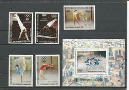 CENTRAFRIQUE  Scott C298-C302, C302A Yvert PA298-PA302, BF70 ** (5+bloc) Cote 13,75 $ 1984 - Centrafricaine (République)