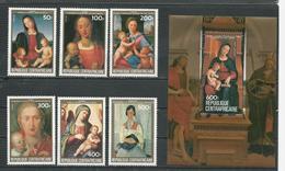 CENTRAFRIQUE  Scott 650-655, 656 Yvert 616-619, PA305-PA306, BF72 ** (6+bloc) Cote 23,75 $ 1984 - Centrafricaine (République)