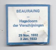 RELIQUIA RELIC RELIQUARY RELIKWIE BEAURAING HAGEDOORN DER VERSCHIJNINGEN 29 NOV. 1932 3 JAN. 1933 - Religion & Esotérisme