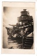 + 813, FOTO-AK, WK I, Mienentreffer, Kriegsmarine - Guerre 1914-18