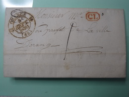 25. ORANGE (Vaucluse) TàD 12 à Un Fleuron 3 Sept. 1830 En Correspondance Locale Texte Intéressant - 1849-1876: Période Classique