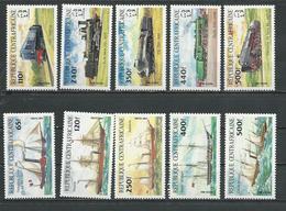 CENTRAFRIQUE  Scott 633-642 Yvert 620-629 ** (8) Cote 32,25 $ 1984 - Centrafricaine (République)