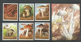CENTRAFRIQUE  Scott 673-678, 679 Yvert 633A-633D, PA308A-PA308B, BF73A ** (6+bloc) Cote 18,75 $ 1984 - Centrafricaine (République)