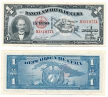 1953 // BANCO NATIONAL DE CUBA // 1 PESO // UNC - Cuba