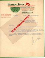 PAYS BAS- LEEUWARDEN-LETTRE HETTEMA ZONEN-CULTURES EXPORTATION POMMES DE TERRE SEMENCE DE LA FRISE-1947 - Niederlande