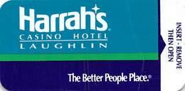 Harrah's Casino Laughlin NV - Narrow Hotel Room Key Card - Hotel Keycards