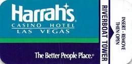 Harrah's Casino Las Vegas NV - Narrow Hotel Room Key Card - Hotel Keycards