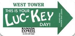 Ramada Express Casino Laughlin NV - Narrow Hotel Room Key Card - Hotel Keycards