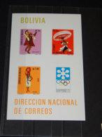 Bolivia - 1972 Sapporo Block (1) MNH__(TH-8082) - Bolivia