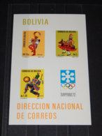 Bolivia - 1972 Sapporo Block (2) MNH__(TH-8088) - Bolivia