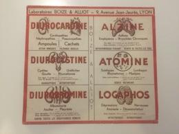 Buvard Pharmaceutique - Laboratoire Boize & Alliot - Alzine - Diurocardine - Diurobromine - Diurocystine - Produits Pharmaceutiques