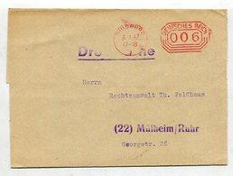 Deutsches Reich / 1942 / Frei-Stempel Duisburg Auf Streifband (27141) - Germany