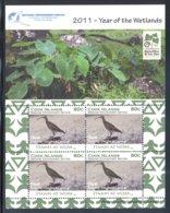 Cook Islands - 2011 Wetlands Kleinbogen (1) MNH__(FIL-10504) - Cook Islands