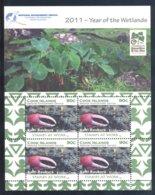 Cook Islands - 2011 Wetlands Kleinbogen (2) MNH__(FIL-10507) - Cook Islands