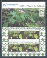 Cook Islands - 2011 Wetlands Kleinbogen (3) MNH__(FIL-10509) - Cook Islands