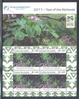 Cook Islands - 2011 Wetlands Kleinbogen (4) MNH__(FIL-10510) - Cook Islands