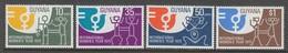 SERIE NEUVE DU GUYANA - ANNEE INTERNATIONALE DE LA FEMME N° Y&T 462 A 465 - Timbres