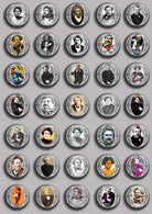 Alexandre Dumas Music Fan ART BADGE BUTTON PIN SET 1 (1inch/25mm Diameter) 35 DIFF - Music