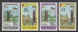 SERIE NEUVE DU GUYANA - JOURNEE DE LA NAMIBIE : MONUMENT DE LA LIBERTE N° Y&T 466 A 469 - Stamps
