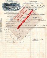 SUISSE- COUVET- RARE FACTURE EDOUARD DUBIED-FABRIQUE MACHINES TRICOTER-1901-GRAND PRIX PARIS 1900 EXPOSITION UNIVERSELLE - Switzerland