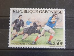 Gabon - 1987 Rugby World Cup MNH__(TH-6288) - Gabon (1960-...)