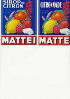 2 TRES BELLES ETIQUETTES SIROP ET CITRONNADE - MAISON LN MATTEI - BASTIA - CORSE - Etiketten