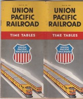 UNITED STATES - UNION PACIFIC RAILROAD - 1954  - TIME TABLE - TRAIN RAILWAY - Monde