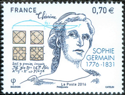GERMAIN, S. - France 2016 Michel # 6408 - ** MNH - Mathematics, Mathematician, Physics, Physicist - 240th Birthday - Sciences