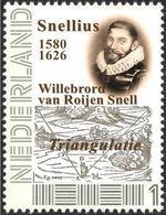 SNELLIUS - Astronomer, Mathematician - Geodesic Triangulation, Mathematics, Maths - Individual Stamp - Sciences