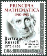 """RUSSELL, B., WHITEHEAD, A. - Principia Mathematica - Liechtenstein 2014, MNH ** - Mathematics - """"die Marke"""" - Sciences"""