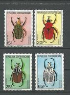 CENTRAFRIQUE  Scott 706-709 Yvert 650-653 ** (4) Cote 10,00 $ 1985 - Centrafricaine (République)