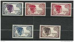 """Laos YT 13 à 17 """" Laotienne """" 1952 Neuf** - Laos"""