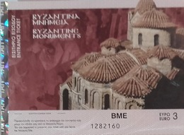 Entrance Ticket To Byzantine Monuments - Greece - Tickets - Vouchers