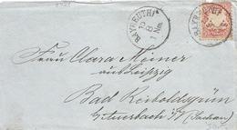 Deutschland Germany Bayern 1876 Bayreuth Nach Auerbach Sachsen Cover - Beieren