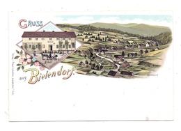NIEDER-SCHLESIEN - BIELENDORF / BIELICE, Lithographie, Gasthaus Bielendorf, Dorfansicht - Schlesien