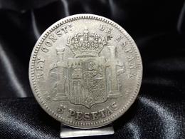 Moneda De 5 Pesetas De Plata. 1890 *90. - [ 1] …-1931 : Reino