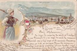 Gruss Aus Dem Kanton Solothurn Circulée En 1902 - SO Solothurn