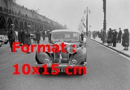 Reproduction D'une Photographie Ancienne D'une Jaguar SS Participant à Un Rallye En Suisse En 1939 - Reproductions