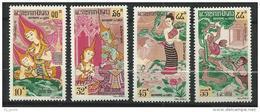 "Laos YT 101 à 104 "" Aspirant Bouddah "" 1964 Neuf** - Laos"