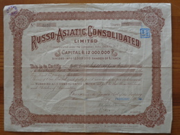 1920 - RUSSO - ASIATIC CONSOLIDATED LIMITED - Russie