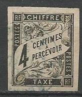 Taxe   N° 4 OBL TB - Portomarken