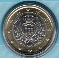 Neuve Rare Pièce De 1 Euros Bu Officiel Euros Saint-Marin Année 2003 Unc 100% Neuve 70 000 Exemplaires San Marino Pro Ne - San Marino