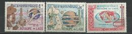 """Laos YT 114 à 116 """" Télécommunications """" 1965 Neuf** - Laos"""