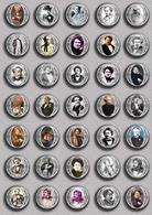 Alexandre Dumas Music Fan ART BADGE BUTTON PIN SET 2 (1inch/25mm Diameter) 35 DIFF - Music
