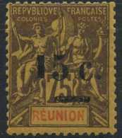 Reunion (1901) N 54d (charniere) 1 Plus Petit Que 5 - Réunion (1852-1975)