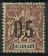 Reunion (1912) N 72A (charniere) Chiffres Espaces (C40 E10) - Réunion (1852-1975)