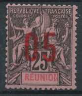 Reunion (1912) N 75A (charniere) Chiffres Espaces - Réunion (1852-1975)