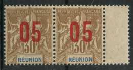 Reunion (1912) N 76A (Luxe) Chiffres Espaces (signe) - Réunion (1852-1975)