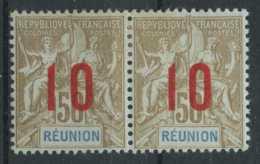 Reunion (1912) N 78A (charniere) (chiffres Espaces) - Réunion (1852-1975)