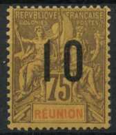 Reunion (1912) N 79A (charniere) Chiffres Espaces Signe - Réunion (1852-1975)